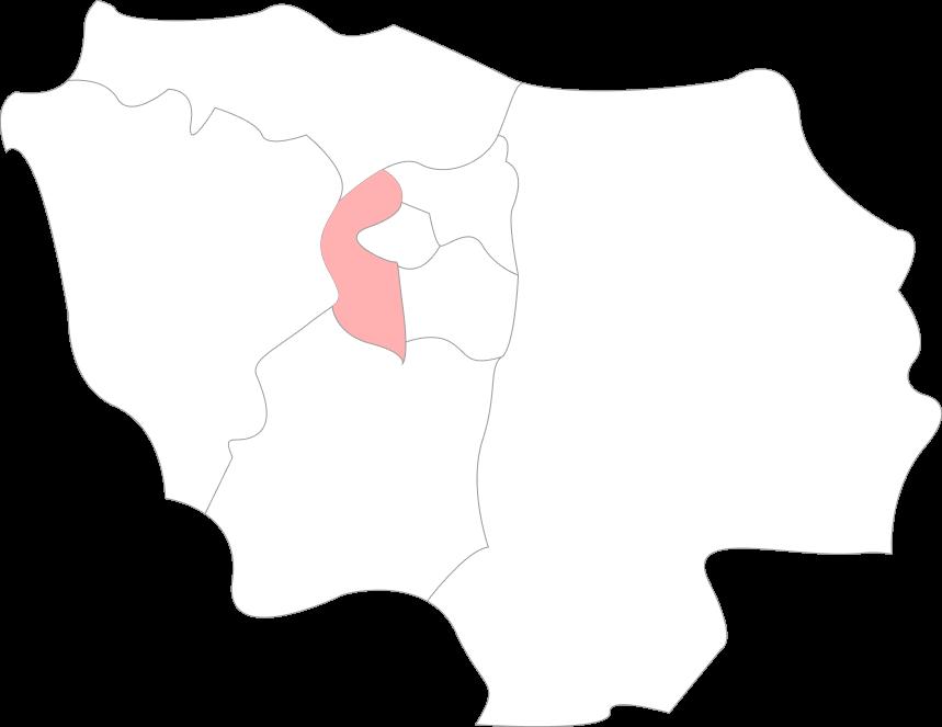 Map hauts-de-seine
