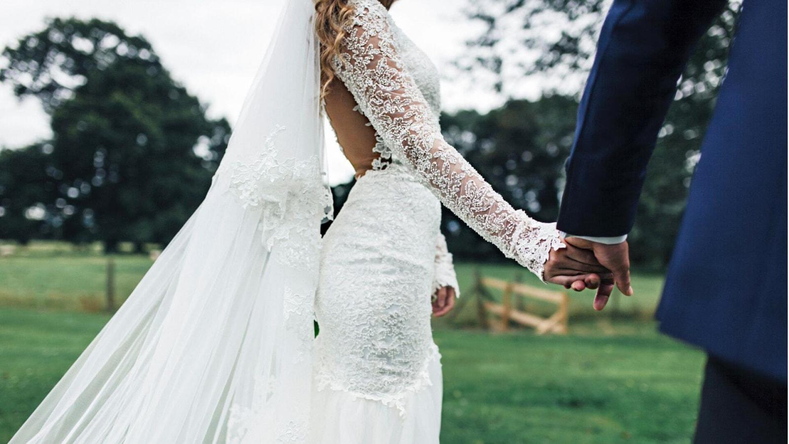 Une photo des mariés à Saint Raphaël