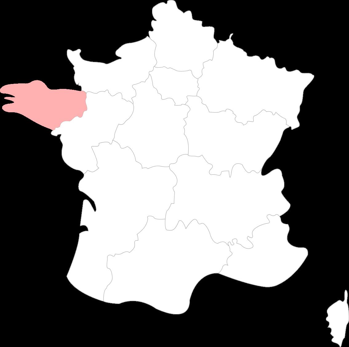 Map de la Bretagne