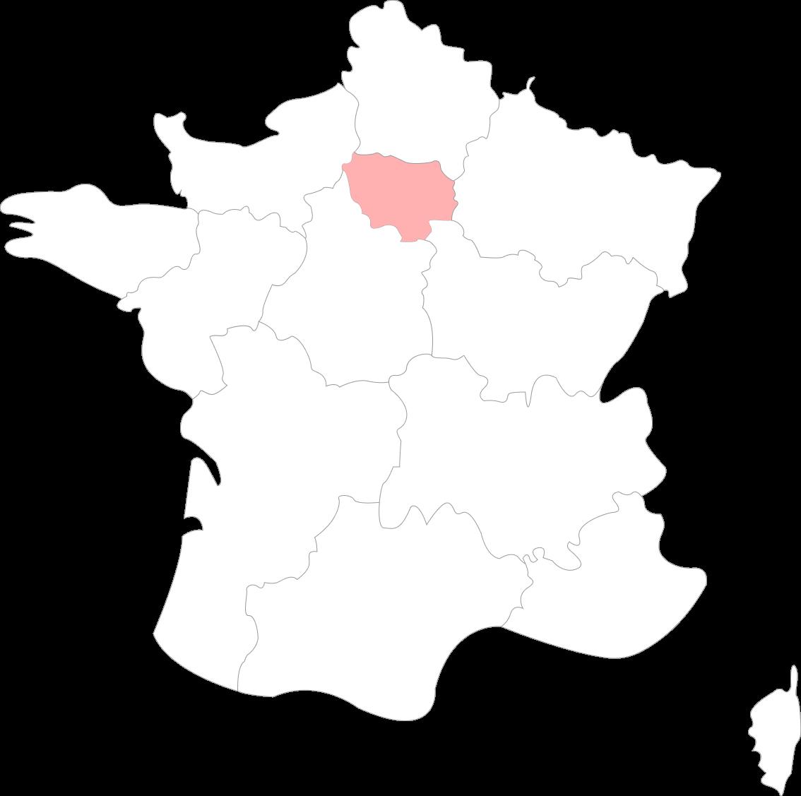 Map de l'Ile de France