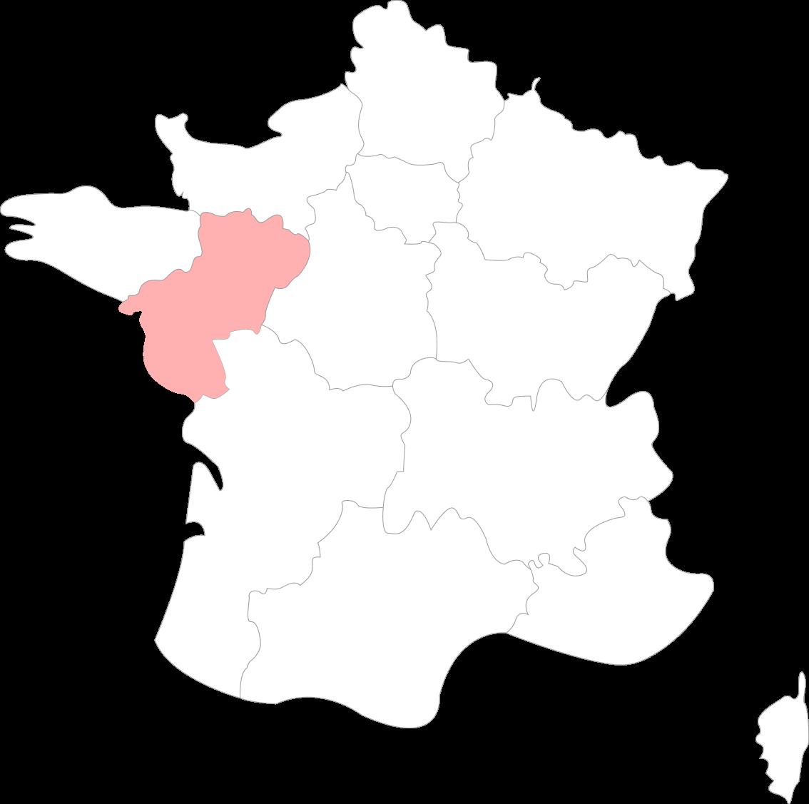 Map du Pays de la Loire