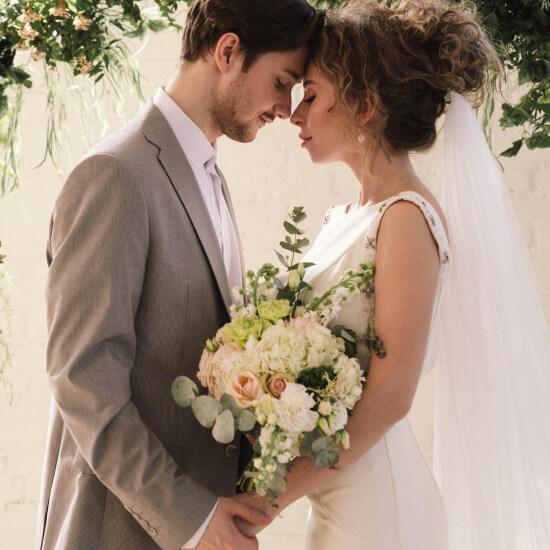 Photo des mariés se tenant