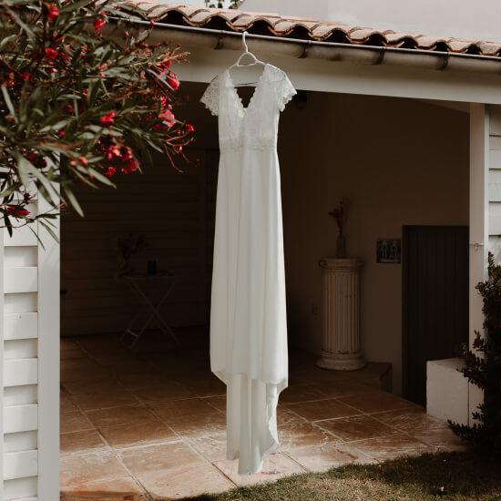 Photo de la robe de la mariée