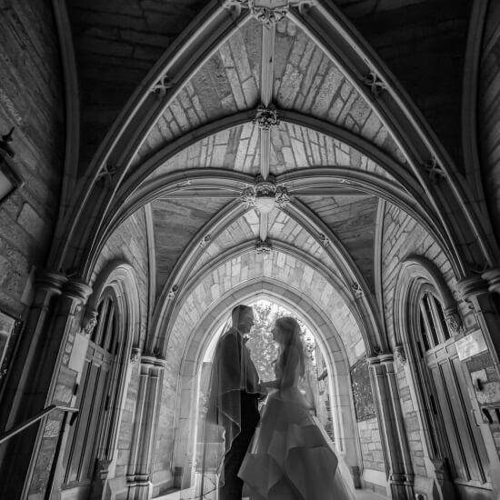 Photo des mariés à l'église