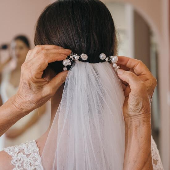 Photo de la préparation de la mariée