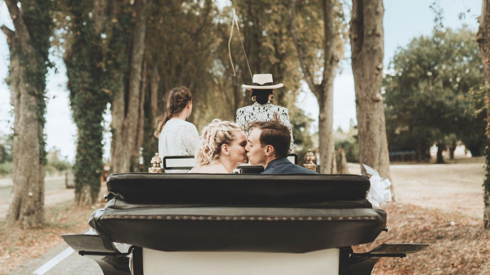 Les deux mariés à Brignoles