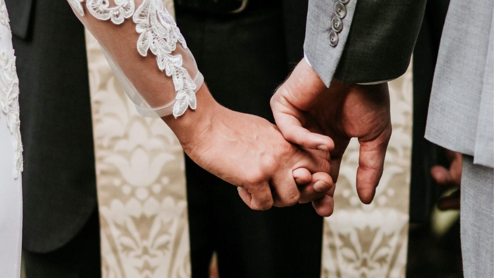 Les deux mariés à Narbonne