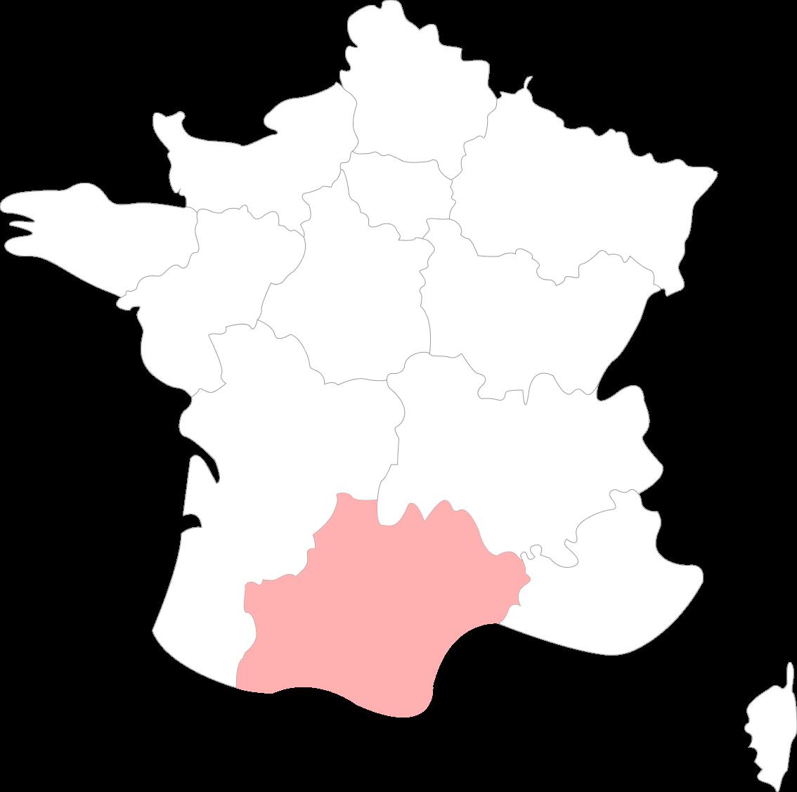 Map de l'occitanie