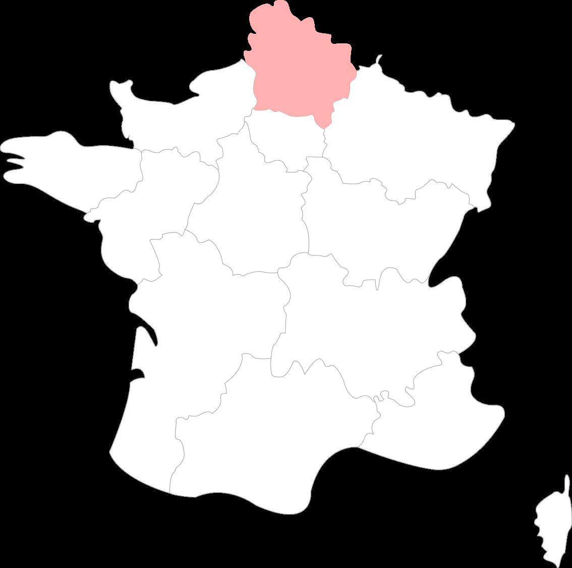 Carte des Hauts-de-France