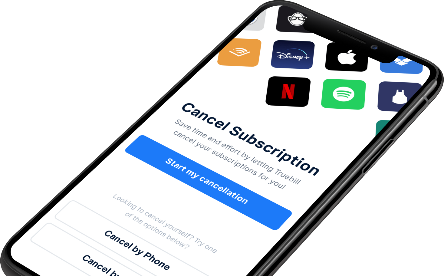 Cancel your subscriptions with Truebill