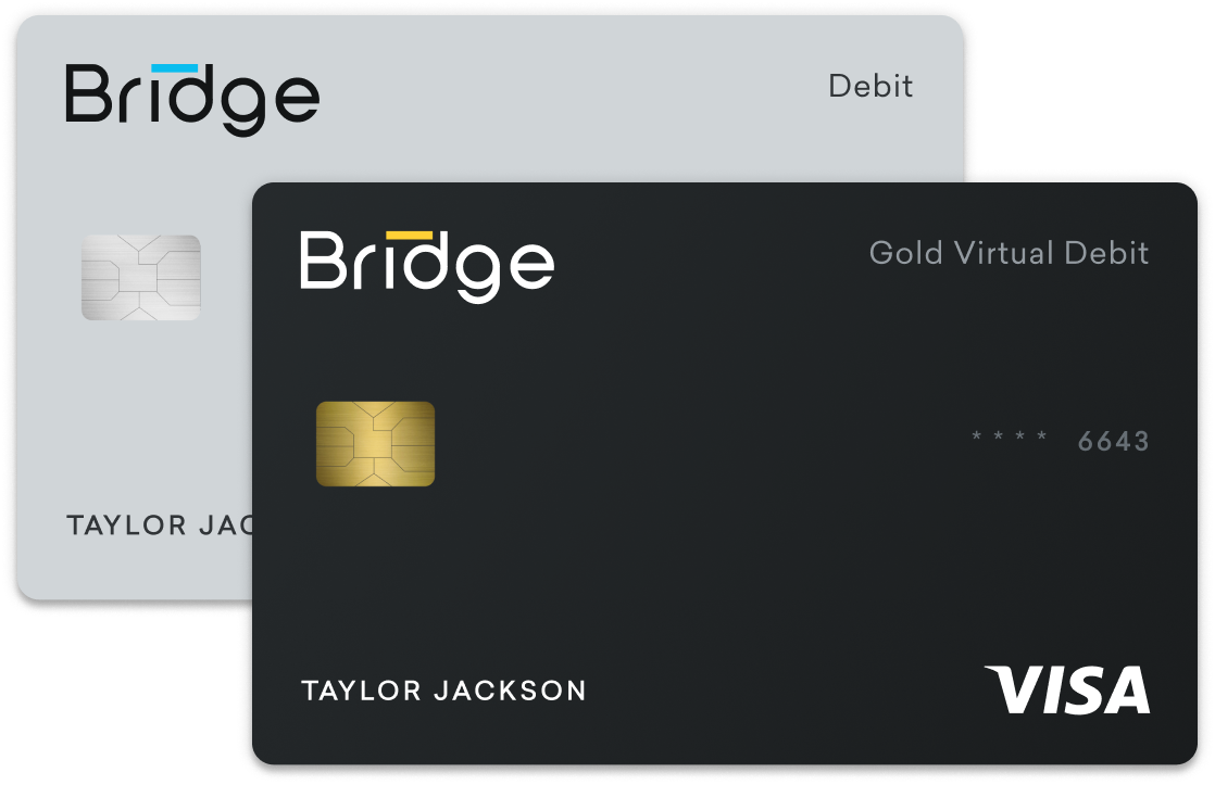 Physical and virtual debit cards