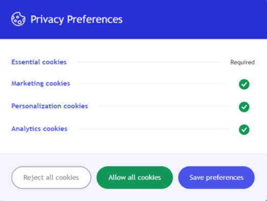 cookie settings example