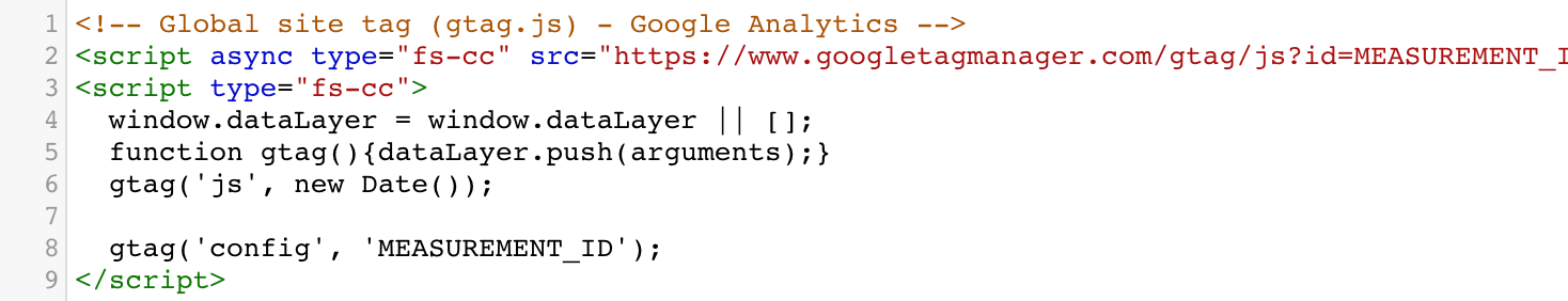 ga script example