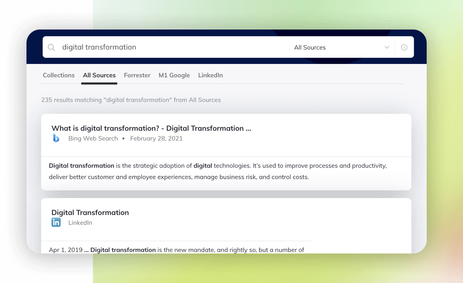 Product UI element Search