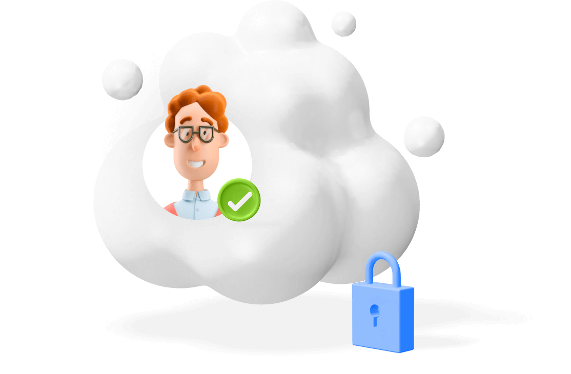 secured cloud via lock with an user