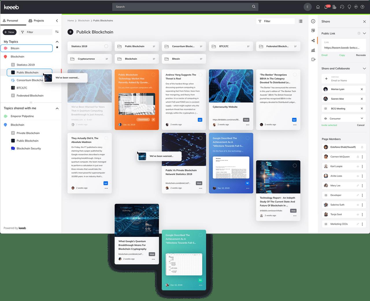 Keeeb Collections Screenshot