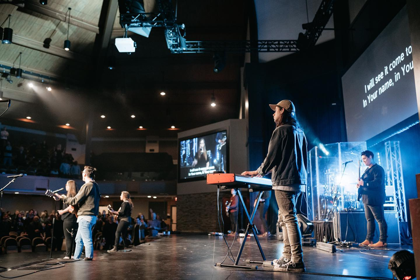 A picture of a Christian Life Assembly gathering.