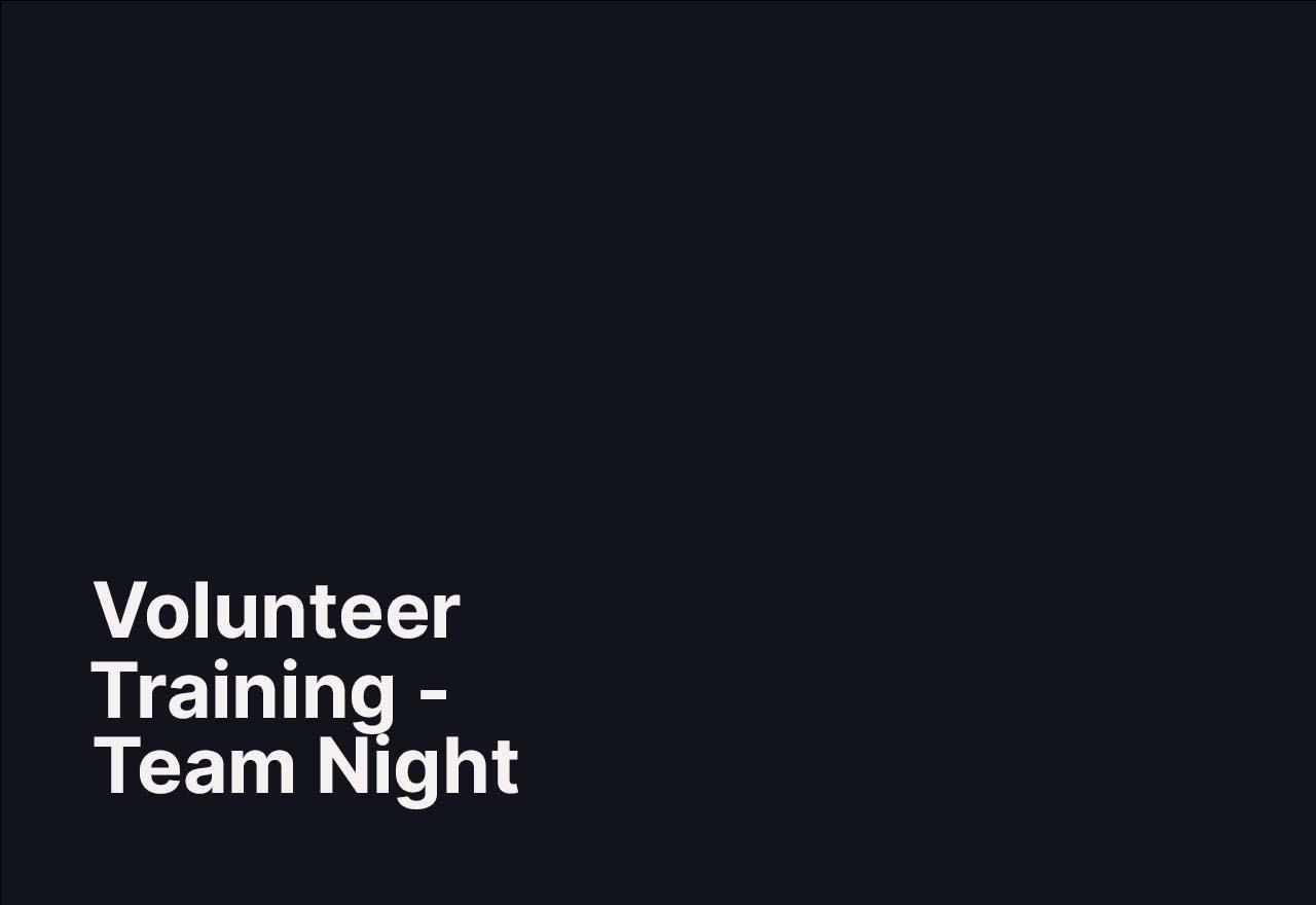 Maple Ridge Volunteer Team Night