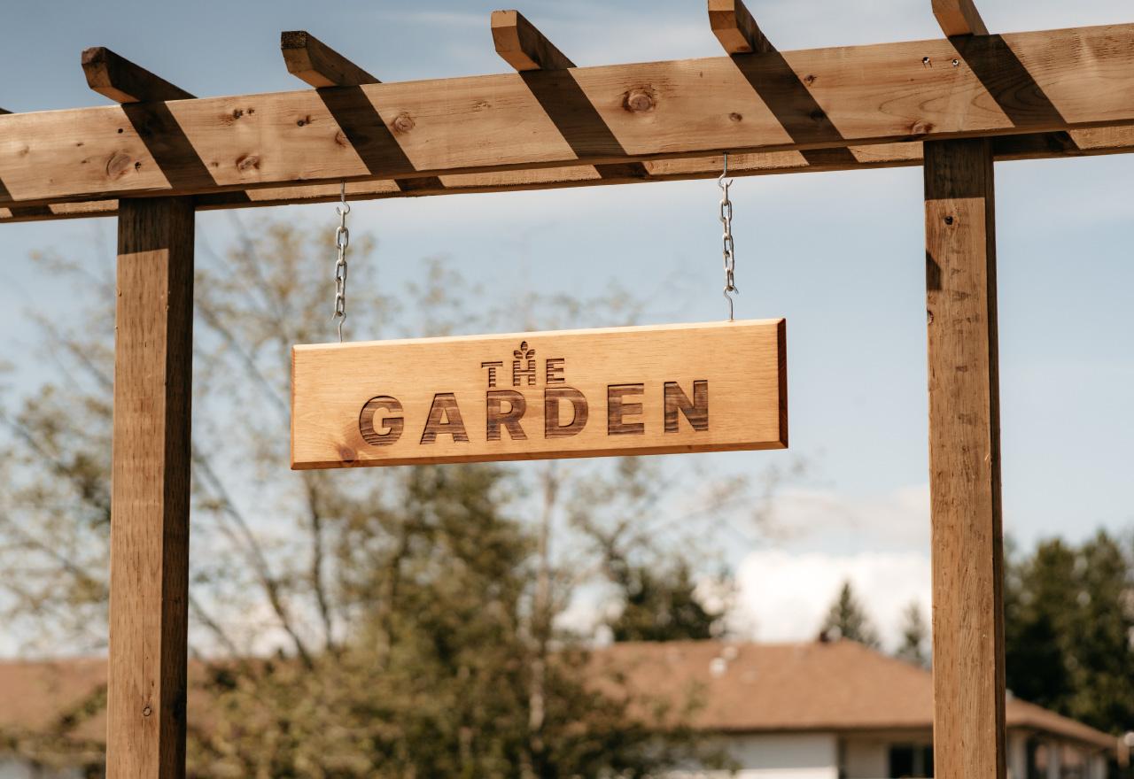 CLA Community Garden sign