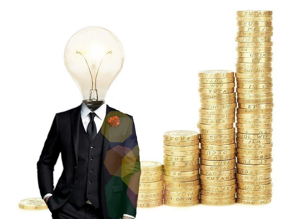 Bitcoin, Financieros, Idea, Bombilla, Cuenta, Banco