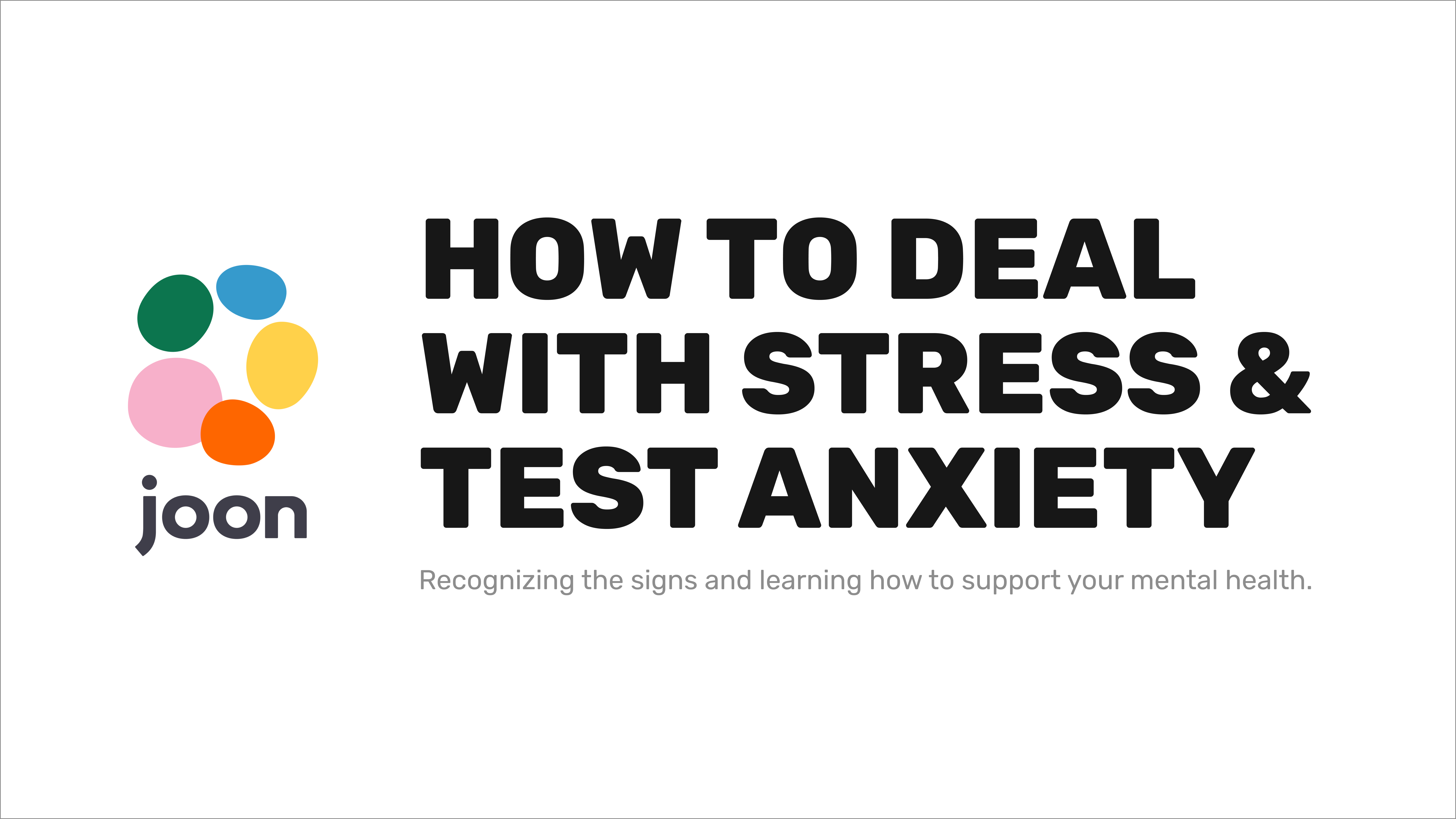 The Overwhelming Stress of Test Anxiety: Recognizing the signs and learning how to support your mental health