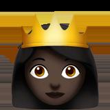 black princess with crown emoi
