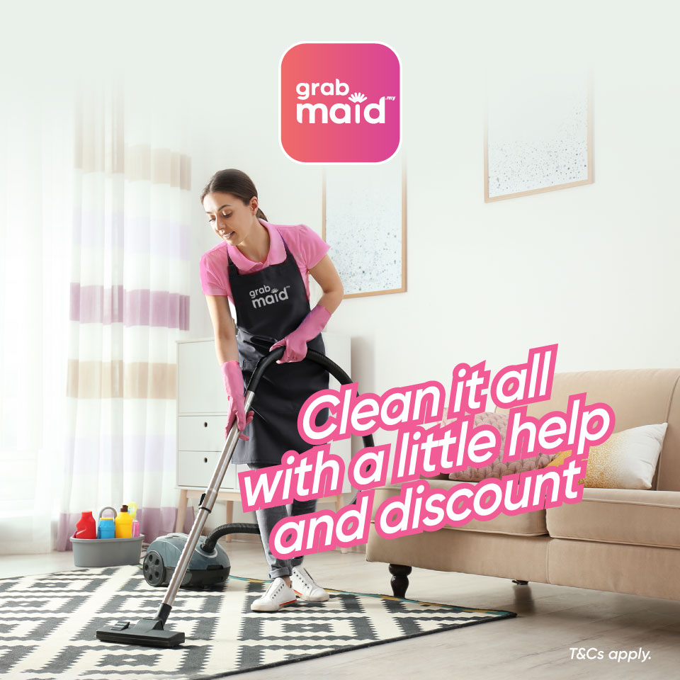 GrabMaid Cleaning Service Promotion