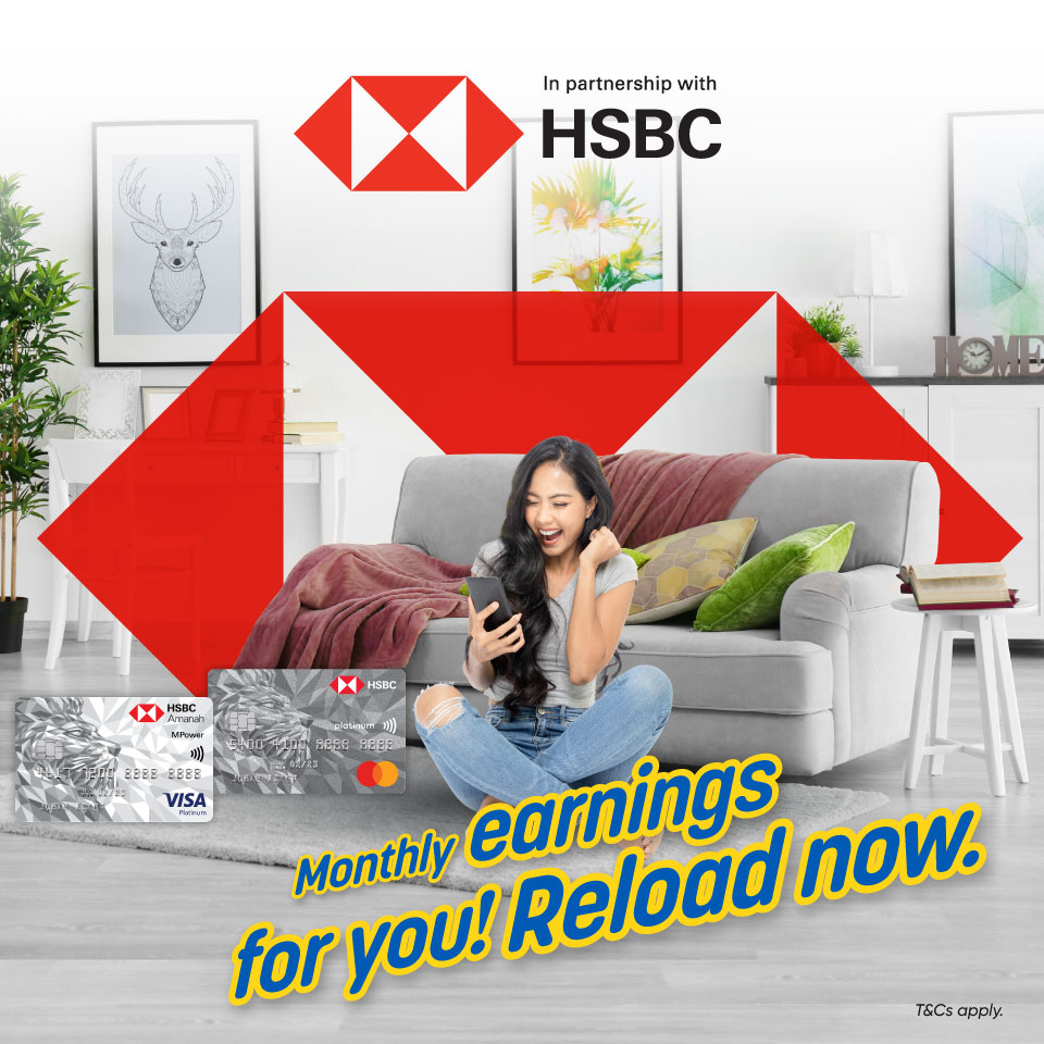 RM15 cashback monthly with HSBC