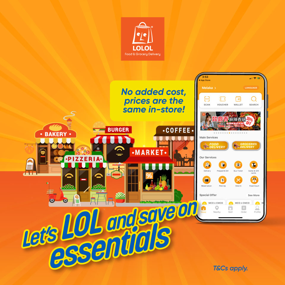 Enjoy RM5 OFF food and groceries delivery
