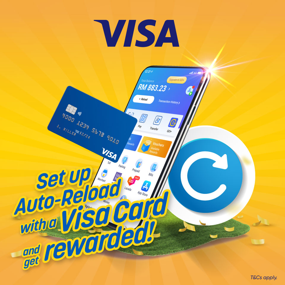 Set up Auto-Reload with Visa!