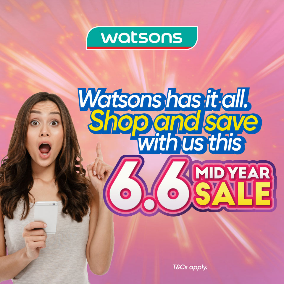 Watsons 20% Cashback Promotion