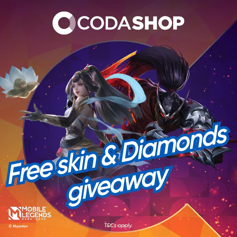 Codashop: MLBB Free Skin & Diamonds Giveaway