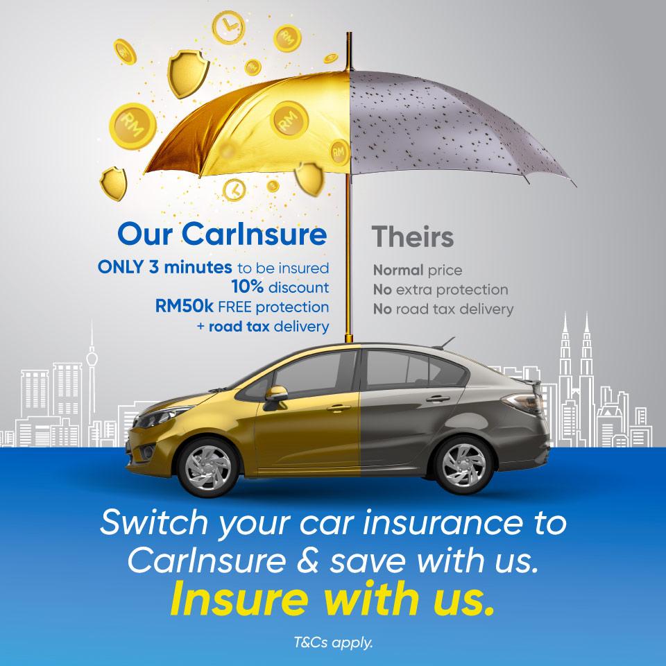 Renew car insurance & road tax via CarInsure with us.