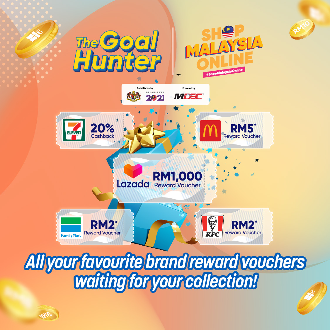 Collect 2 stamps & claim a Reward of your choice