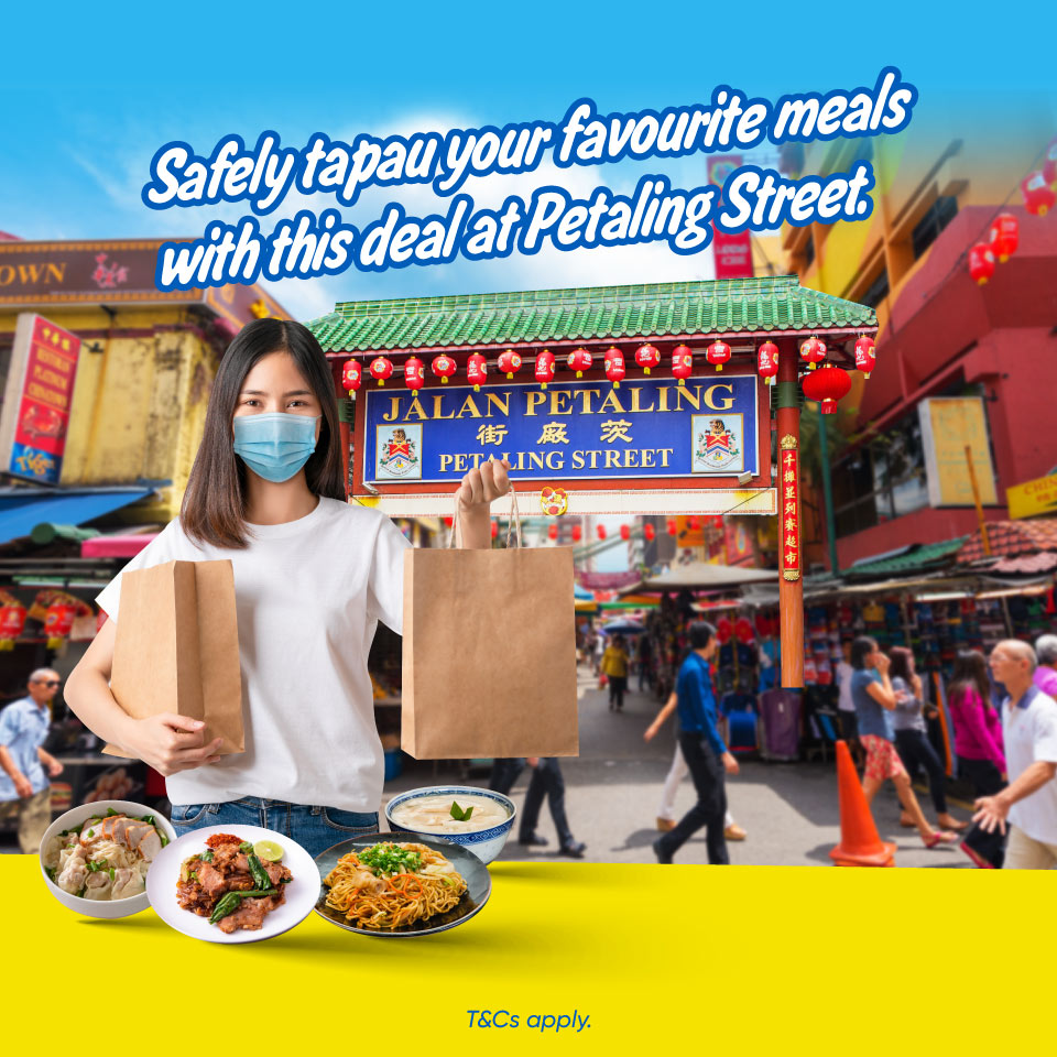 Safely tapau your favorite meals with this deal at Petaling Street