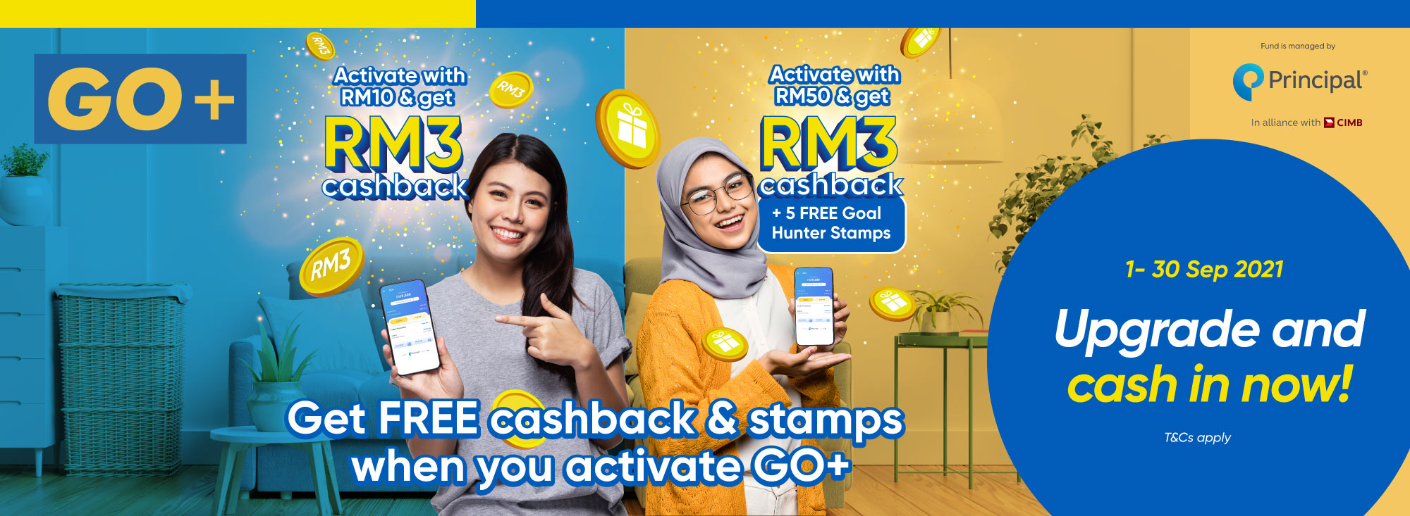 Get Cashback with GO+