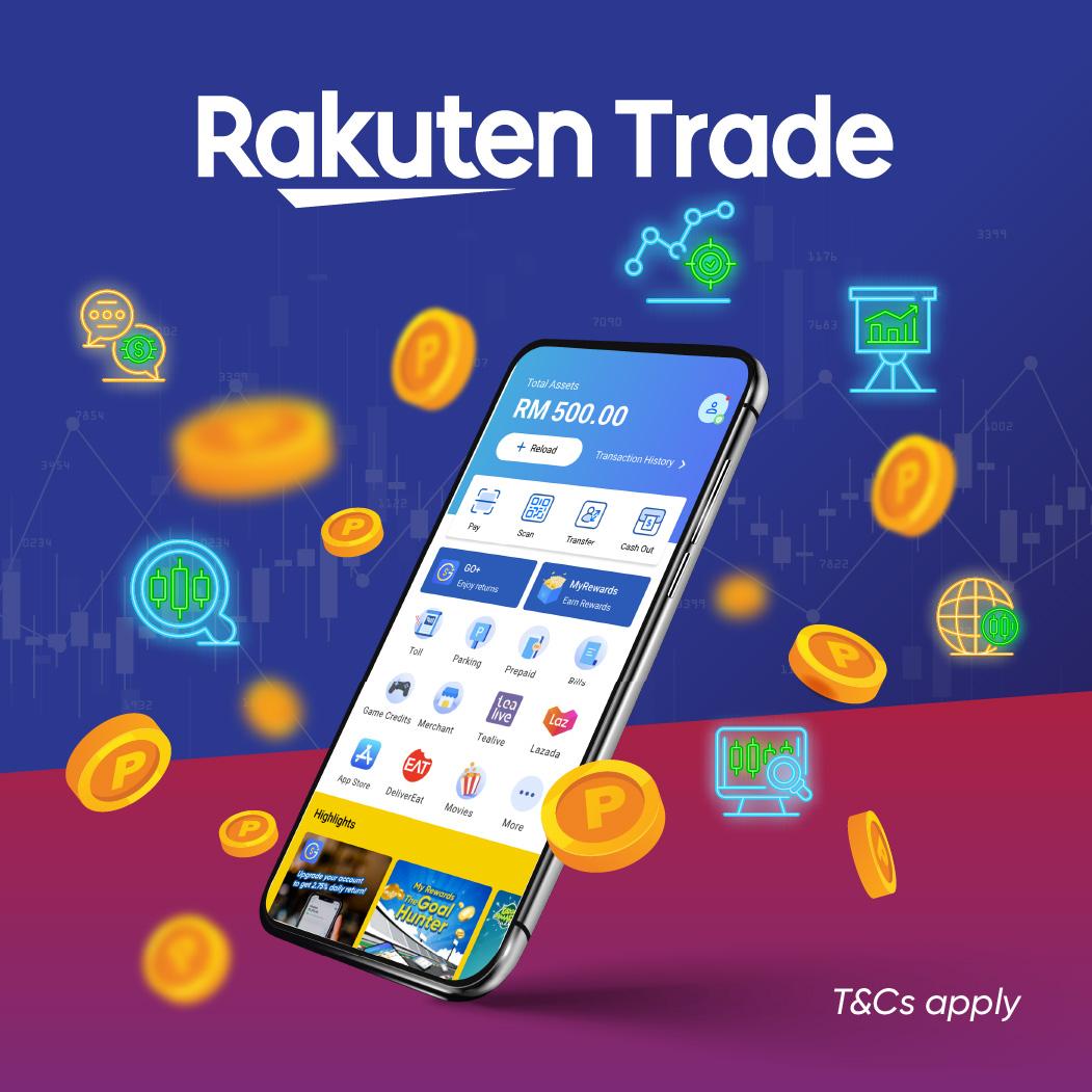 Rakuten Trade: Get up to RM88 Credits Pro