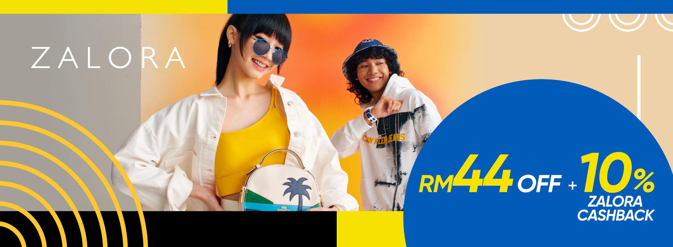 ZALORA: Get RM44Off + 10% ZALORA Cashback