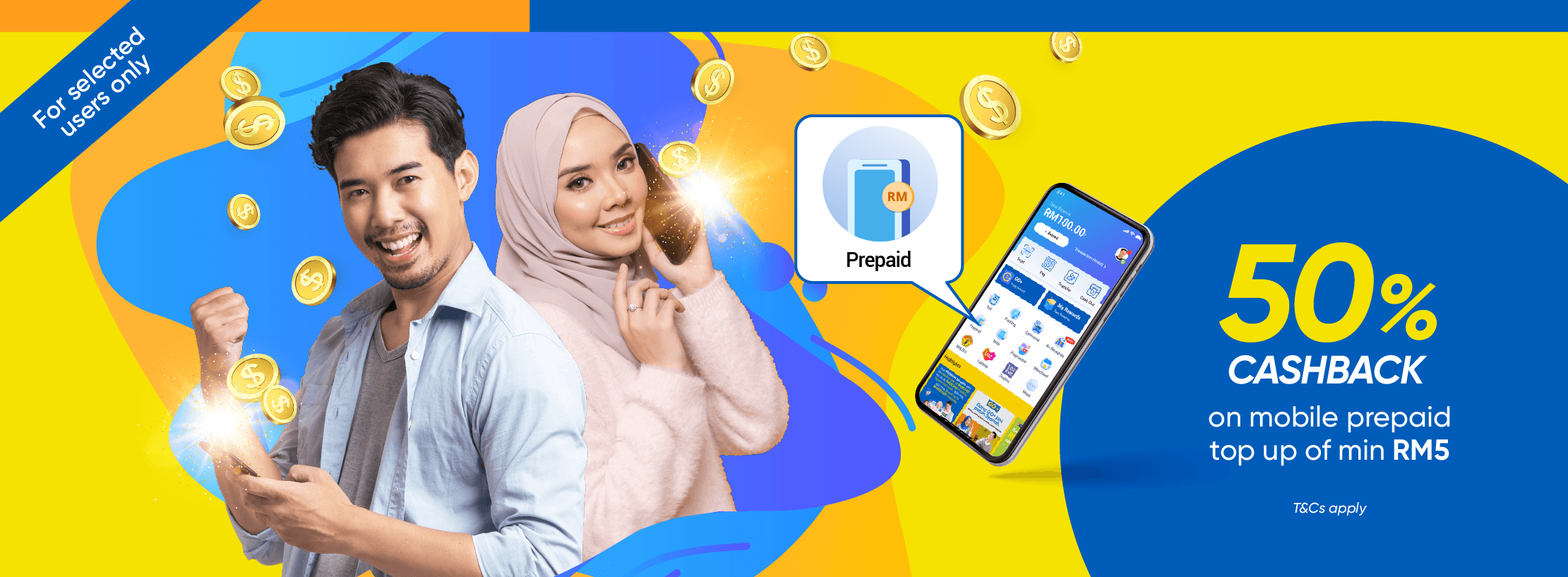 Mobile Prepaid 50% Cashback Special