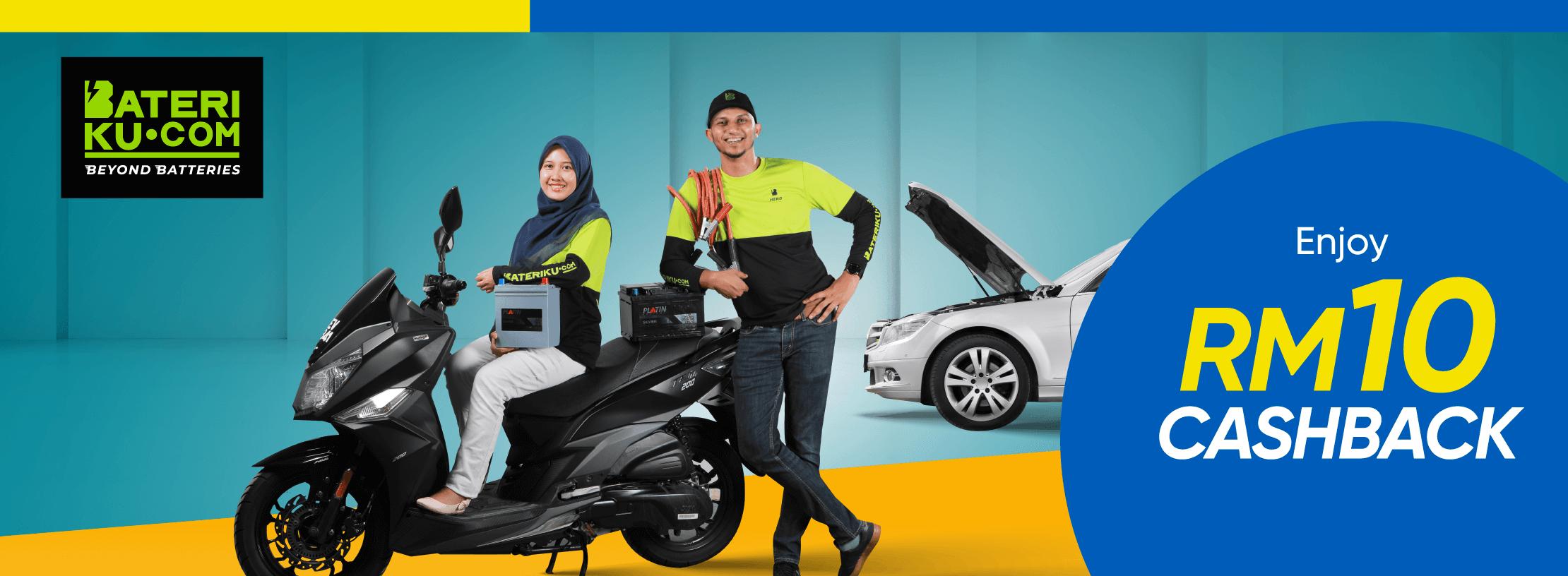 Get RM10 Cashback from Bateriku