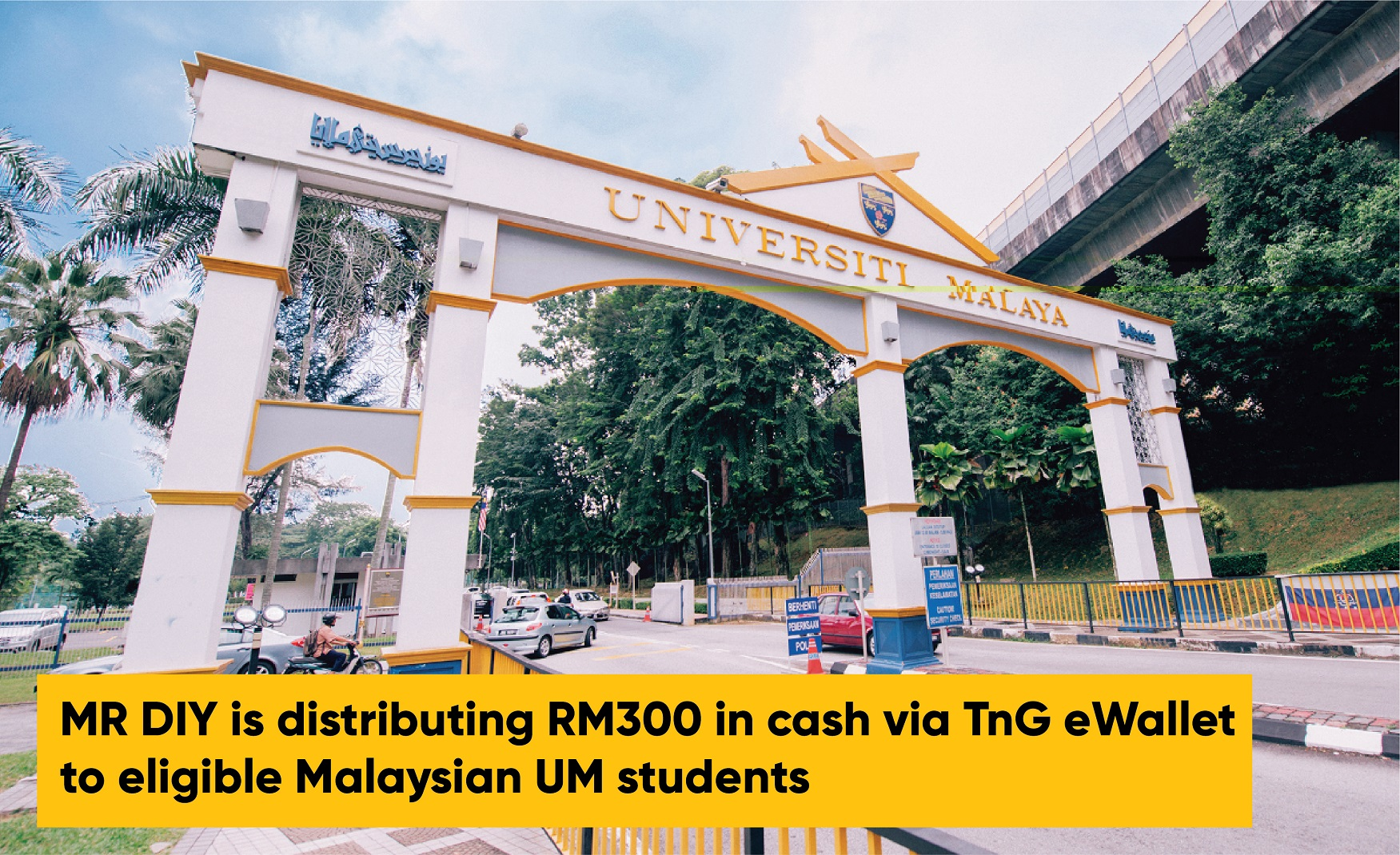 MR D.I.Y. distributes RM300 in cash via Touch 'n Go eWallet to 15,000 UM students