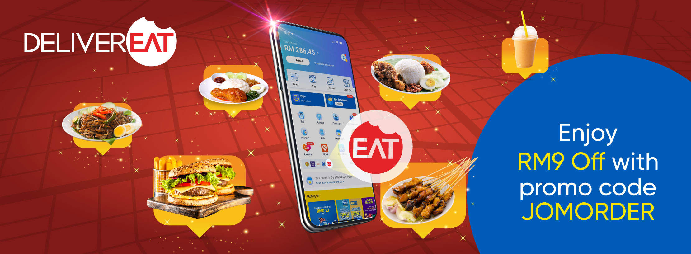 Jom Makan with DeliverEat x Touch 'n Go eWallet