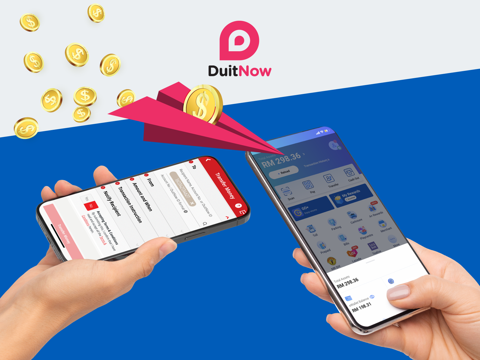 Activate DuitNow Transfer on your Touch 'n Go eWallet App