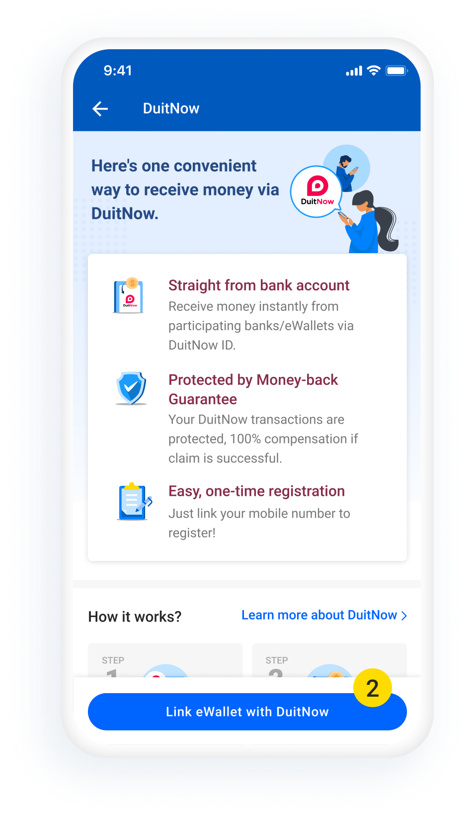 DuitNow Transfer Activation Step2