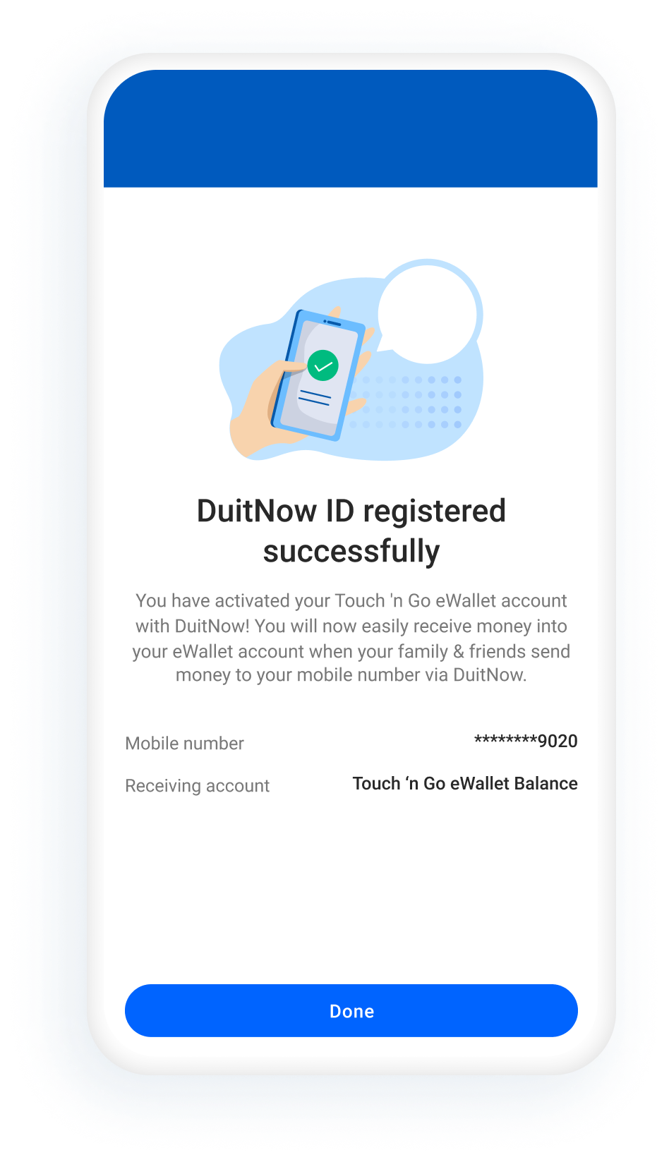 DuitNow Transfer Activation Step3