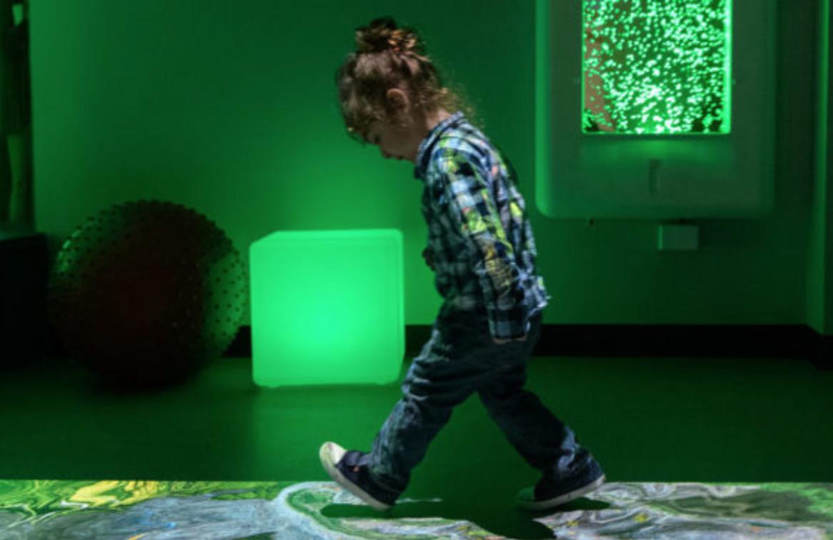 Girl walking inside Museum
