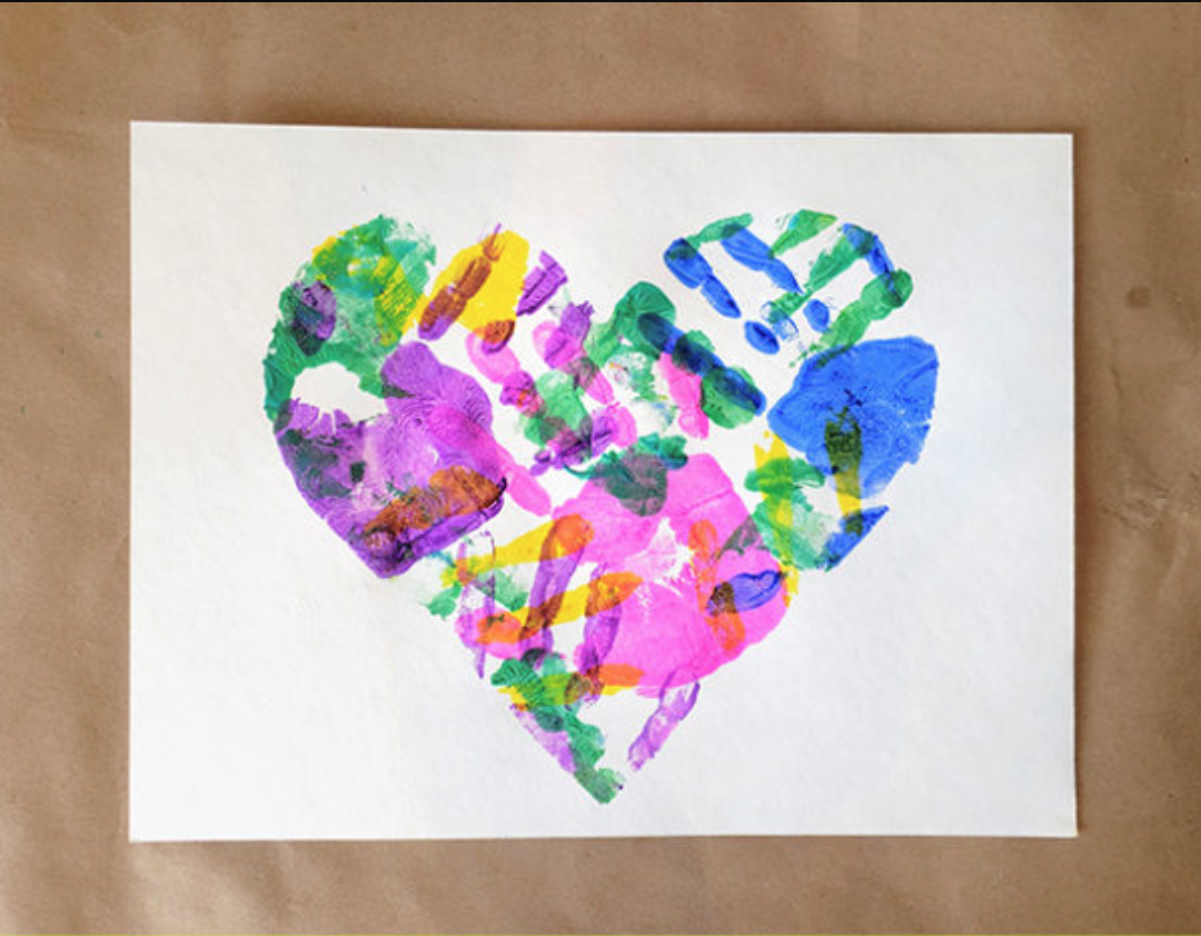 heart made by painted hands