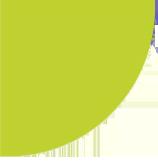 green semi circle shape