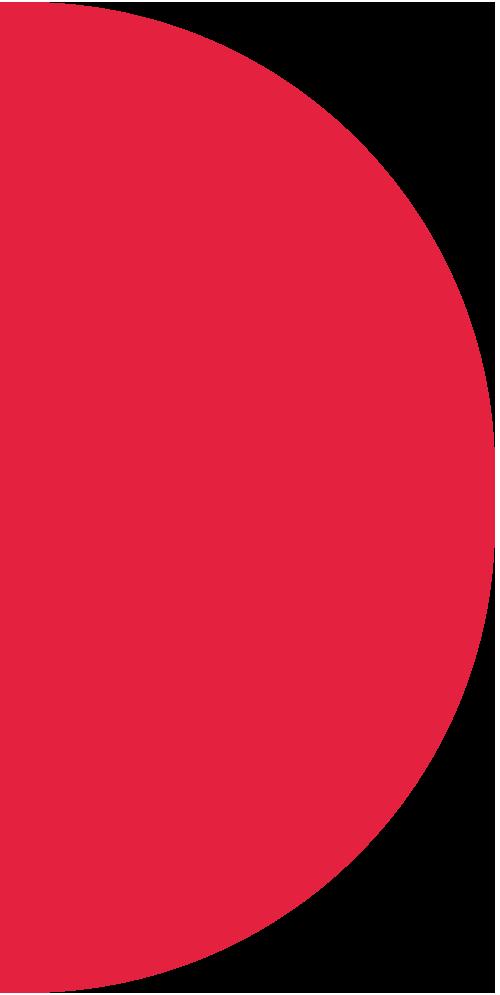 red semi circle