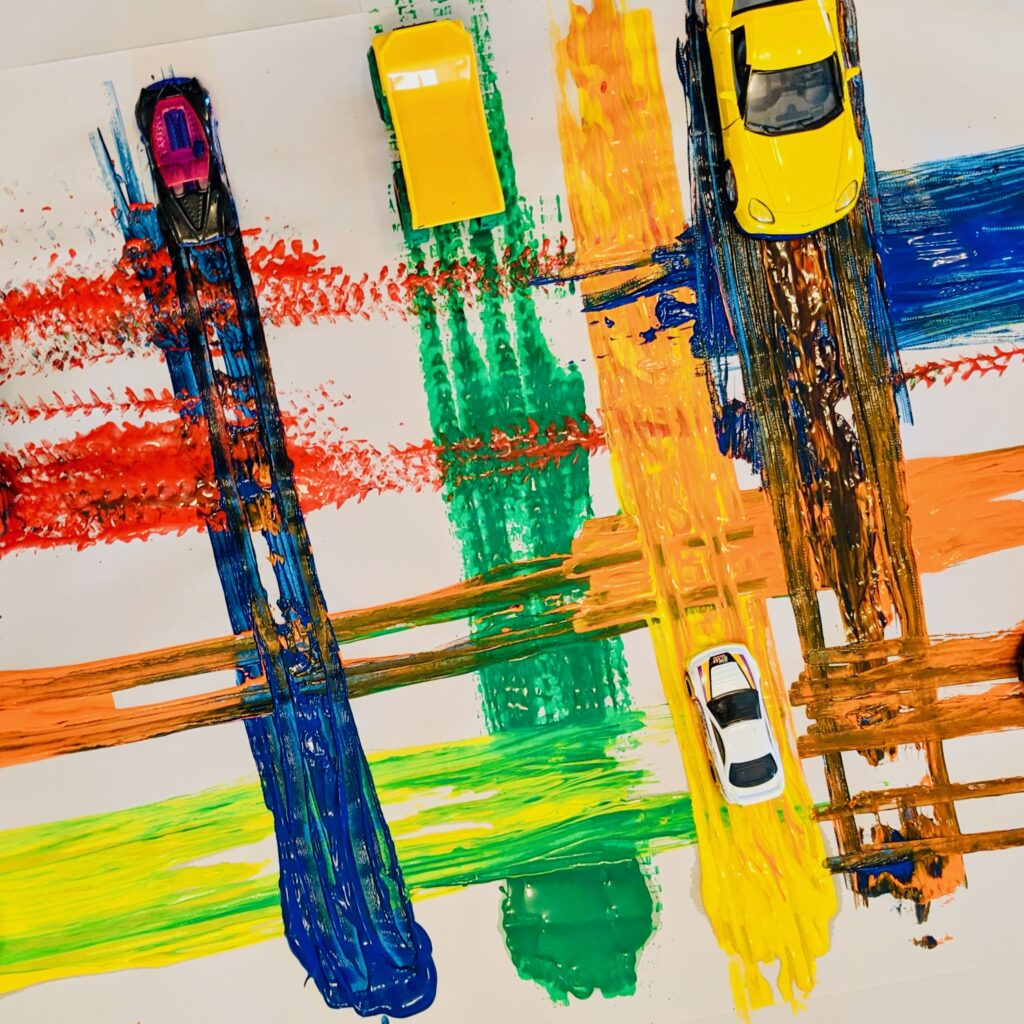 Armani Williams Racecar Painting